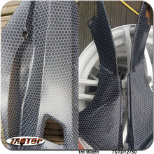 TSTD12750 1M * 10M new pattern popular white transparent carbon fiber bee net Hydrographics Film Water Transfer Printing Films(China)