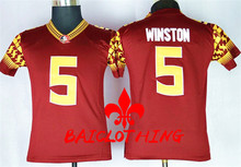 2017  BAICLOTHING Florida State Seminoles Jameis Winston 5 College  Basketball Jerseys - Red Size S,M,L,XL