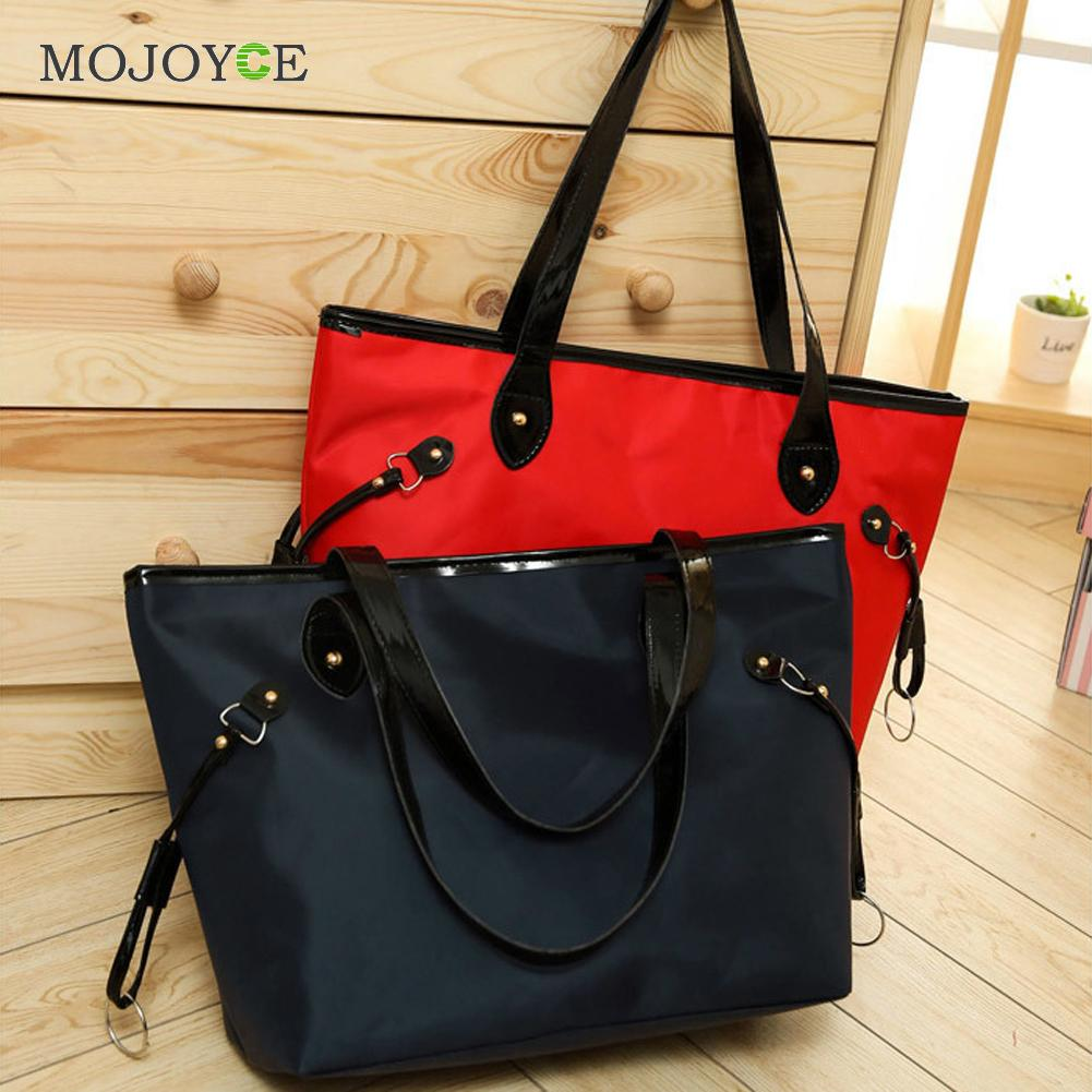 Waterproof Nylon and Leather Women Handbag Women Messenger Bags Handbag Famous Brand Large Tote Hobos Ladies Crossbody Bag<br><br>Aliexpress