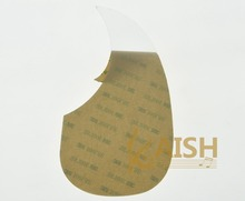 KAISH Teardrop Clear Acoustic Guitar Pickguard Adhesive Scratch Plate Transparent