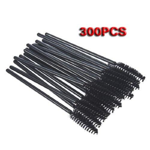 5 Sets of Disposable Black Mascara Wand Applicator Brush Eye Applicators<br>