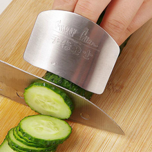Kitchen Cooking Tools Stainless Steel Finger Hand Protector Guard Personalized Design Chop Safe Slice Knife Kitchen Accessories(China)