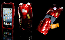 Super Cool 3D Stereo Iron Man Armor Limited Collector's Edition Case Cover With Energy Light For IPhone 5 5S 5G