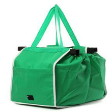 Grab Bag Washable Eco Friendly Reusable Large Capacity Supermarket trolley Shopping Bags To Cart