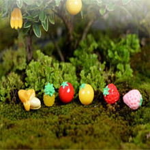 The simulation fruit suit Micro moss garden decoration glass container plants/miniature landscape gardening DIY resin handicraft