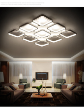 2016 Post-Modern Creative Rectangle PMMA Shades Material Led Iron Ceiling Chandelier