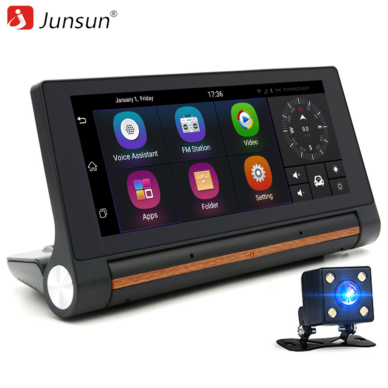 "Junsun 3G car dvrs 6.86"" Car GPS Navigation Android 5.0 Navigator with rear view camera WiFi 16GB truck gps sat nav free map(China (Mainland))"