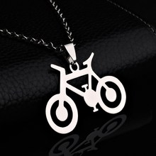 2017 Brand Design Bicycle Pendant Necklace Woman Necklaces Vintage Jewelry Stainless Steel Pendant Long necklace for women