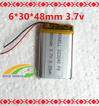 10pcs rechargeable po 603048 900mah 3.7v battery pack for Headset