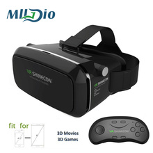 Mlldio Helmet 3D Glasses Google Cardboard Shinecon VR BOX 2.0 Virtual Reality vr headset Glasses For 3.5 - 6.0inches Smart phone(China)