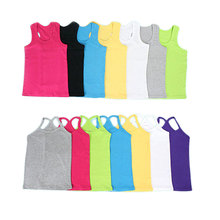 Girls T Shirt Children T Shirts For Boys Candy Color Children T-shirts Girls Top Cotton Vest Kids Undershirt Baby Singlets(China)