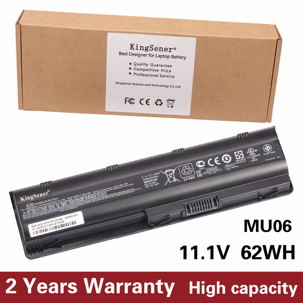 KingSener Korea Cell New MU06 Battery For HP 430 431 435 630 631 635 636 650 655 CQ32 CQ62 G32 G42 G72 G56 G62 G7 DM4 593553-001<br>