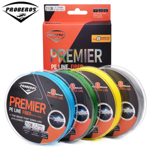 210M& 8 Stands Fishing Line Proberos Brand Green/Grey/Yellow/Blue braided fishing line 8-Weaves 15LB-100LB PE Line