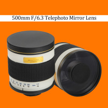 500mm F/6.3 Telephoto Mirror Lens + T2 Mount Adapter Ring for Canon Nikon Pentax Sony Olympus DSLR(China)