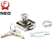 NED 12PCS 338 Series Atuomatic Copper Furniture Drawer Locks Cabinet 19mm Lock Core With Computer Keys For Furniture Hardware