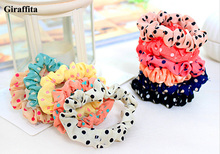 1 pcs New Arrival Cute Sweet Girl Elastic Hair Band Ponytail Holder Accessories Headwear Color Randomly free shipping(China)