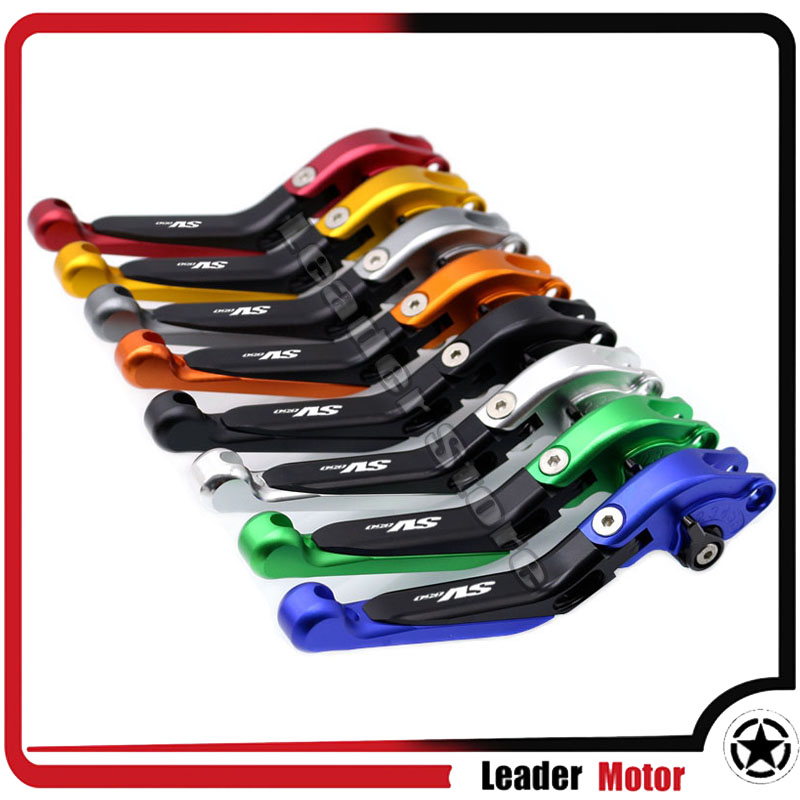 For SUZUKI SV650 SV 650 2016-2017 Motorcycle Accessories Folding Extendable Brake Clutch Levers LOGO SV650 20 Colors<br>
