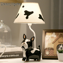 Children bedroom lamp dimming cute puppy creative method of fighting dogs bedlamp birthday gift Postage free