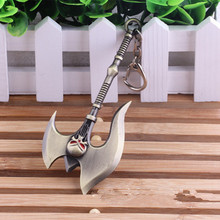 League Of Legendes Darius the Hand of Noxus Axe Keychain Women Bag Men Jewelry Chaveiro 12cm COCO973(China)