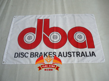 DBA disc brakers australia flag,90*150CM polyester DBA banner(China)