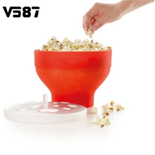 Microwaveable Popcorn Maker Pop Corn Bowl With Lid Microwave Safe New Kitchen Bakingwares DIY Popcorn Bucket