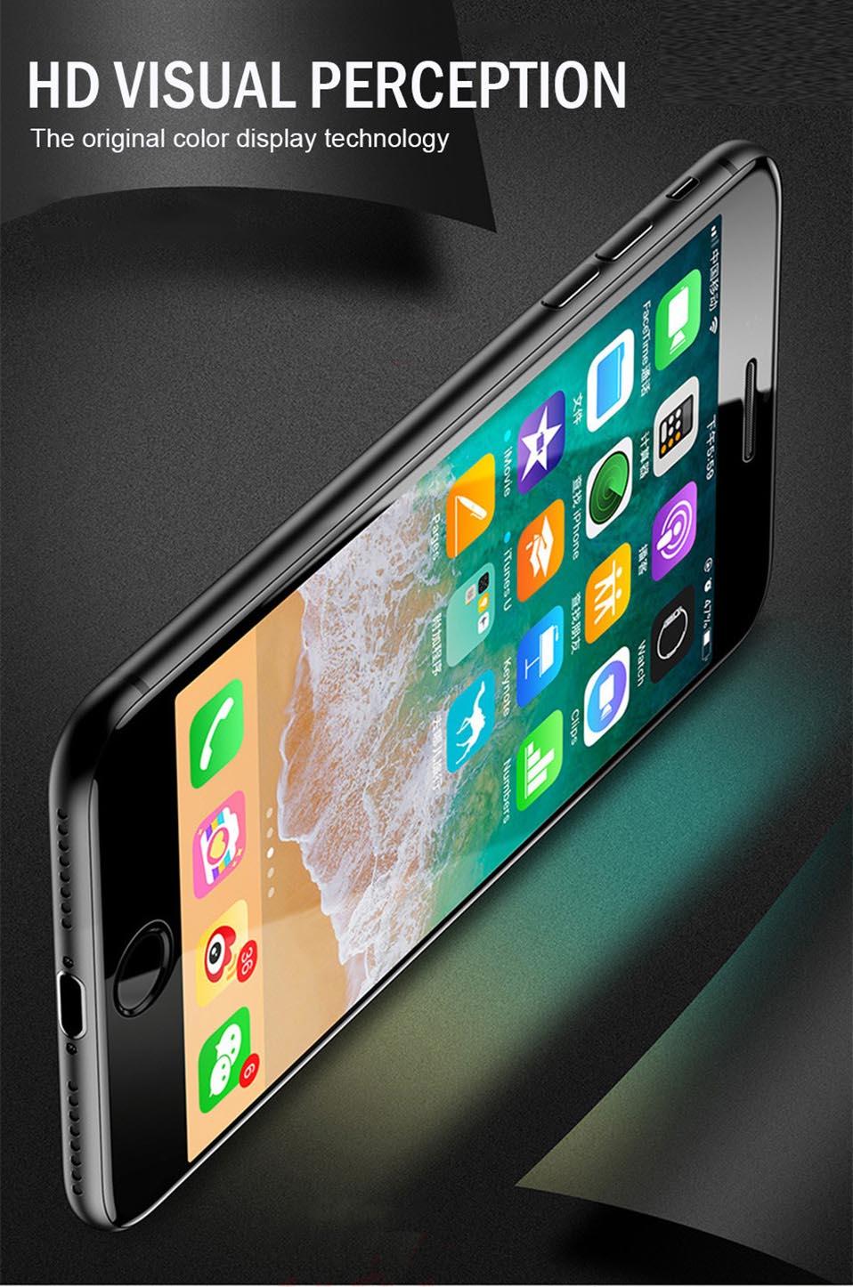 5D Glasses for iPhone 6 6s plus Glass Film Full Cover iphone6 Screen Protector for iPhone 6 6s 7 8 plus x Tempered Glass 3D 4D (3)