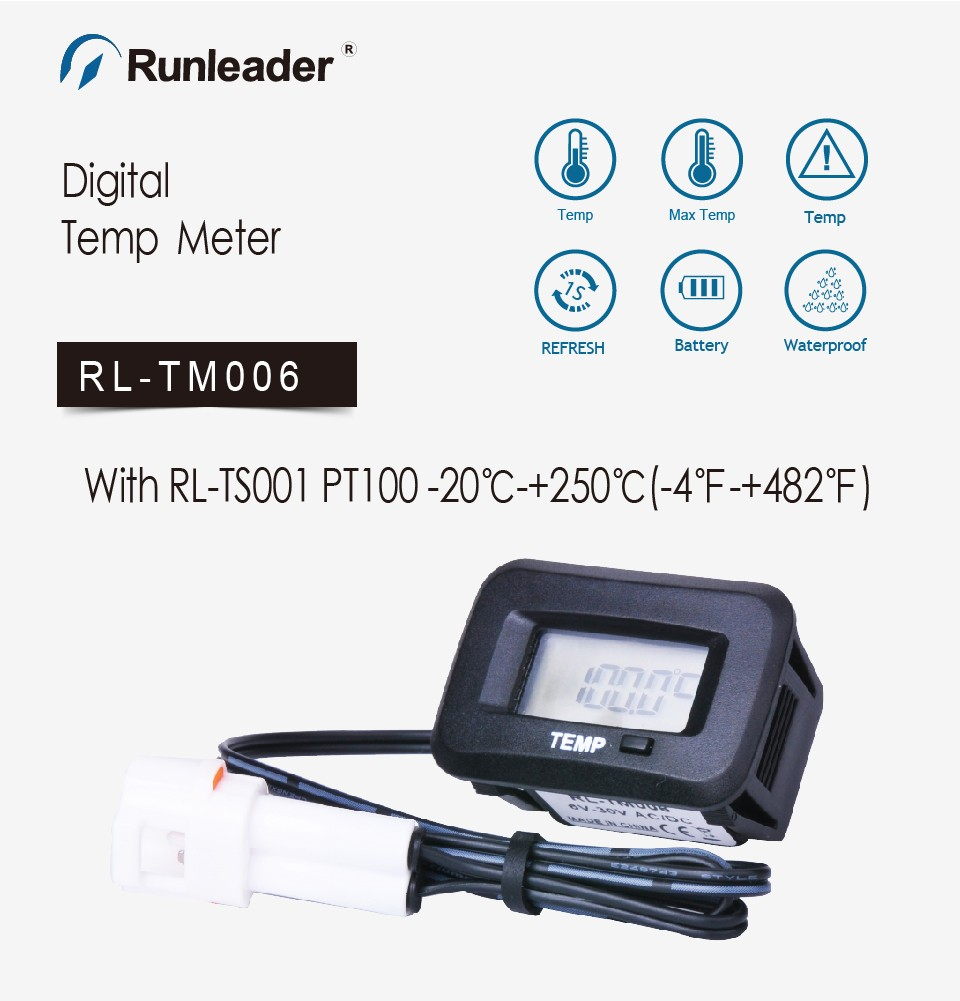 50~110°C XS Digital 12V temperature monitoring thermometer meter w// temp probe