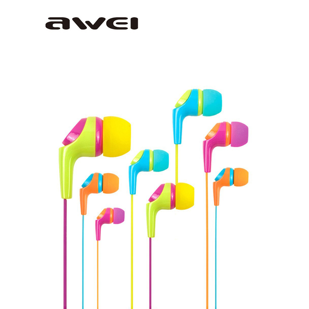 2015 auriculares new Awei ES Q6i in ear earphone with microphone bass Earphone for mp music player iphone earphone for xiaomi<br><br>Aliexpress