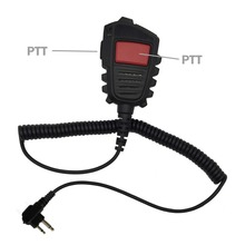 Double PTT Handheld Speaker Microphone for Motorola Walkie Talkie GP300 GP88 GP88S GP2000 GP68 CP040 CP200  HYT TC500 Radio C010