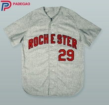 Embroidery Stitched 1969 Rochester 29 GREY Baseball Jersey movie Baseball Jersey(China)