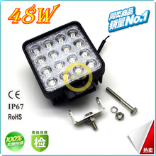 48W LED working lamp auto lamp manufacturer lamp lights 4 inch square headlights mining truck