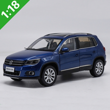 1:18 TIGUAN Volkswagen VW Blue Original Car Model Off-Road SUV Alloy Diecast For Adult Toys Gifts Collection Free Shipping(China)