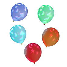 5PCS LED Light Up Layout Thicker Balloons Flashing Light for Birthday Weddings Christmas and Easter Decoration Favors Decor Gift(China)