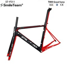 Buy Smileteam Chinese Factory Carbon Road Framesets, T800 Carbon Racing Cycling Bicycle Frames UD Red&Black Matte Popular Color for $458.00 in AliExpress store