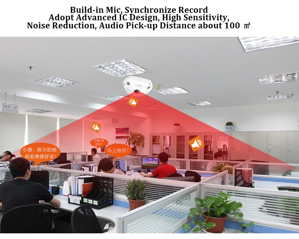 960P 3MP wireless VR ip camera sim card 4G LTE H.264 Security surveillance panoramic 360 degree PTZ Camera with SD Card Slot (12)