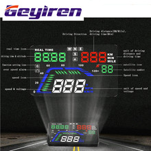 Hot sale Universal 5.5 inch hud display car Auto Speedometer HUD GPS Speedometer Overspeed windshield projector HUD GEYIREN(China)