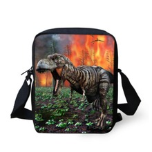 Cool Dinosaur Print Boys Messenger Bag Kids Shoulder Crossbody Bag For Men Teenager CasualSmall Handbag Spanish Satchel Bags