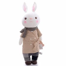 METOO  Plush Toys Collectible Tiramissu Bunny Rabbits Plush Bag Ornaments Toy Decor Doll 12'' New Free Shipping #LNF