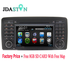 JDASTON Wholesale Price!!! 2DIN 3G WIFI Car DVD Player for Mercedes Benz W251 R280 R300 R320 R350 Car multimedia Radio gps navi(China)