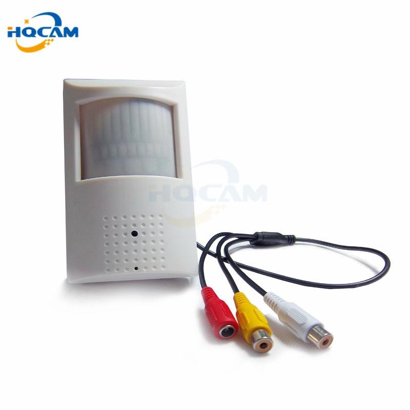 HQCAM 600tvl 1/3Sony CCD 960H Security Indoor CCTV PIR camera Style mini camera mini 48pcs 940nm led IR Night vision pir camera<br>