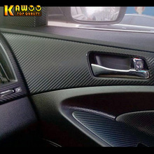 KAWOO Car Stickers For Hyundai Sonata 8 Car 3D Interior Inside Door Armrest Handle Bowl Panel Cover Trim Car-Styling 4Pcs/Set