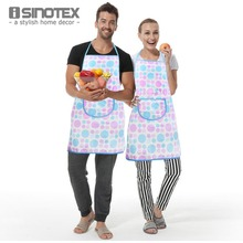 Kitchen Apron White Dots 100% Cotton 1pcs/lot Printed Pattern Craft/ Commercial Restaurant Kitchen Bust Sleeveless Apron(China)