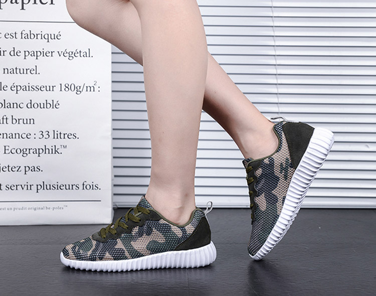 Hundunsnake Women's Sports Shoes Camouflage Air Mesh Lightweight Breathable Sneakers Women Running Shoes Krasovki Gumshoes T296