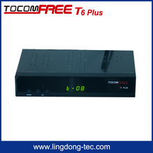 Hot sale digital FTA TV satellite receiver Tocomfree T6 plus installed DL-300 HD module work for north America