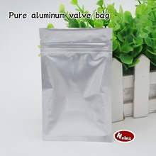 10*17.5cm Pure aluminum self-styled bag/ Food storage packaging/Tea, Cosmetics, Mask packaging. Spot 100/ package(China)