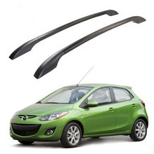 Hot roof racks roof boxes roof rack bars easy install Without drilling Luggage rack case for Mazda 2 modified