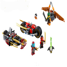 2017 New 23Kai Blade Building Bricks Blocks Set Toy Ninja Go Bike chase Kids Toys Compatible Lepine 70600 - Super Factory store