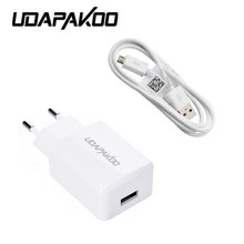 Good Universal EU Plug Micro USB cable + wall Charger AC Power Adaptor for Samsung Galaxy J5 J7 S4 S3 S2 i9300 i9100 Cell Phone(China)