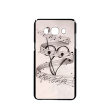 06851 MUSIC NOTES MUSIC IS LIFE cell phone case cover for Samsung Galaxy J1 ACE J5 2015 J7 N9150