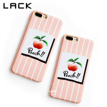 LACK Stripes Phone Case For iphone 7 Case Cute Cartoon Fruit Juicy Peach Capa Fashion Letter Cover Cases For iphone 7 Plus Capa